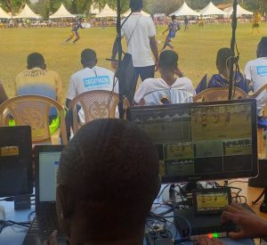 University of Ghana Computing Systems (UGCS) Multi Media Team using their VAR during UG vrs UMaT at GUSA Games 2020